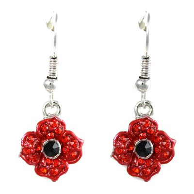 Poppy crystal drop earrings